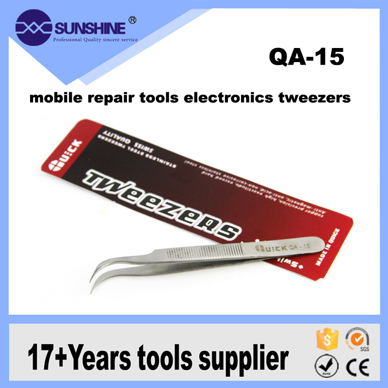 QA-15 High quality Stainless Steel ESD Tweezers For Mobile /Computer Repair