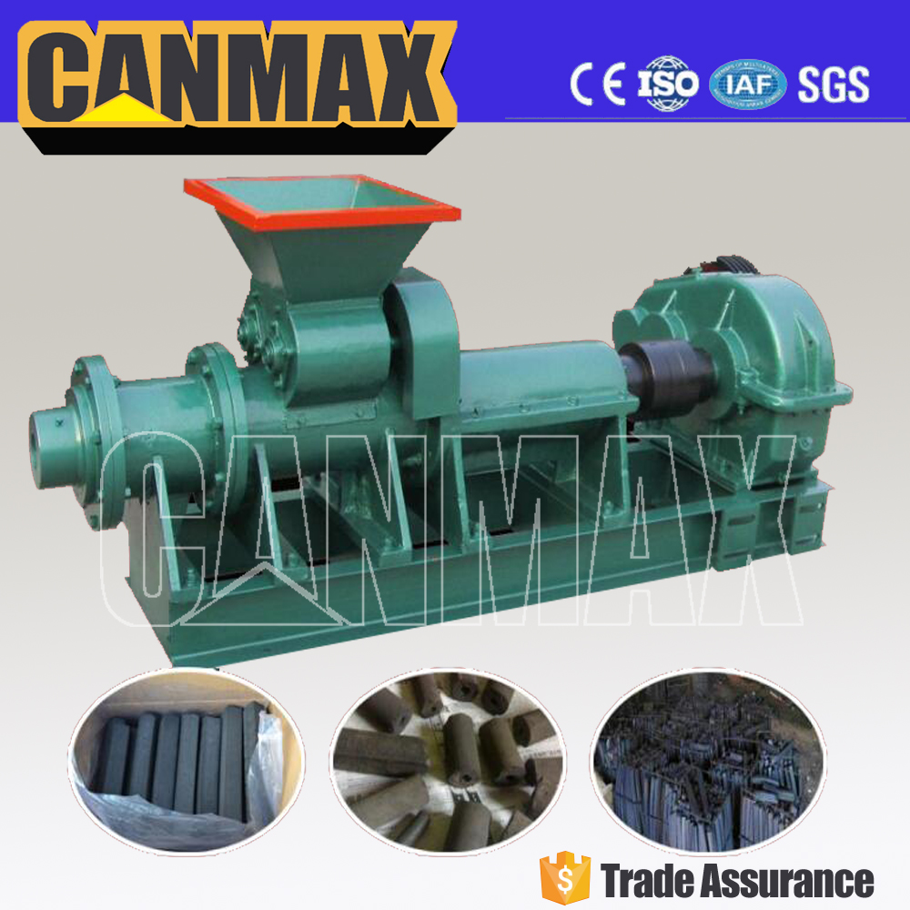 BBQ charcoal /coal bar/coal sticks briquetting extruder machine