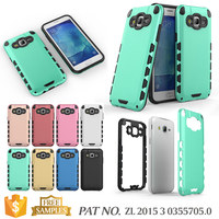 Hybrid bumper cell phone case for samsung galaxy j5 back cover