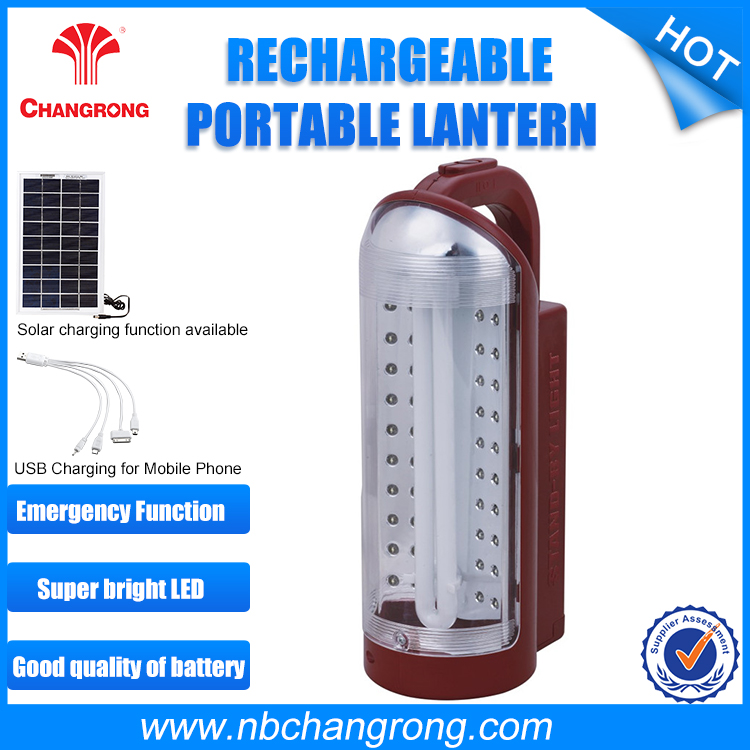 Rechargeable emergency portable lantern 11W fluorescent +40 led solar lamp usb lighter