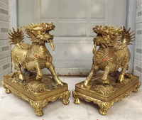 feng shui use Antique bronze sculpture for home