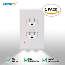 1pc Pack Outlet Wall Plate Led Night Lights no Batteries