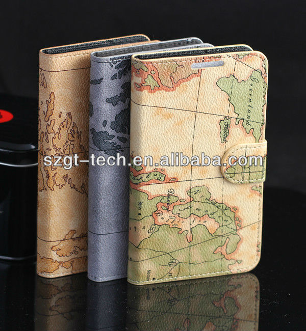 Protective phone case for samsung N7100 galaxy note 2 map style
