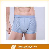 2016 new style pure color breathable men boxers underwear with 5colors