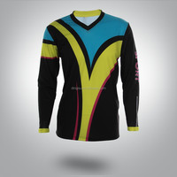 quality sublimation printing dry fit blank cycling long sleeve jersey cheaper price