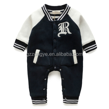 Wholesale children clothing 100% cotton baby winter romper suits