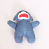 blue knit monkey baby plush toy