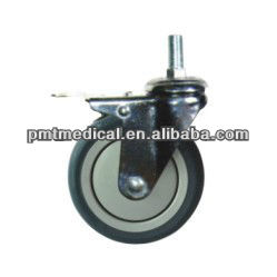 Medical appliance plastic trolley hardware casters central locking caster