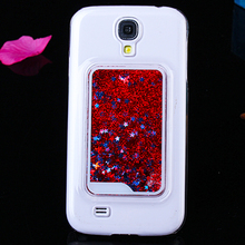 Bling Bling plastic Glitter back case for Samsung Galaxy S4 i9500 cell phone case