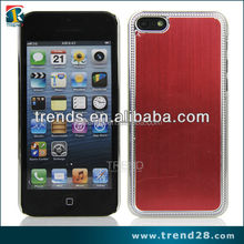 top sale aluminum sticker design PC crystal hard case for iphone 5C