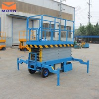 hotel cleaning glass hydraulic small scissor lift for sale
