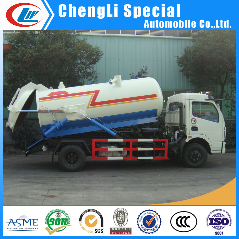 rhd lhd Sewage waste vacuum tanker truck suction 4000L 4m3 waste water suction tanker