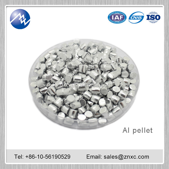 Hot sale high purity 99.999% Al aluminum <strong>pellet</strong>