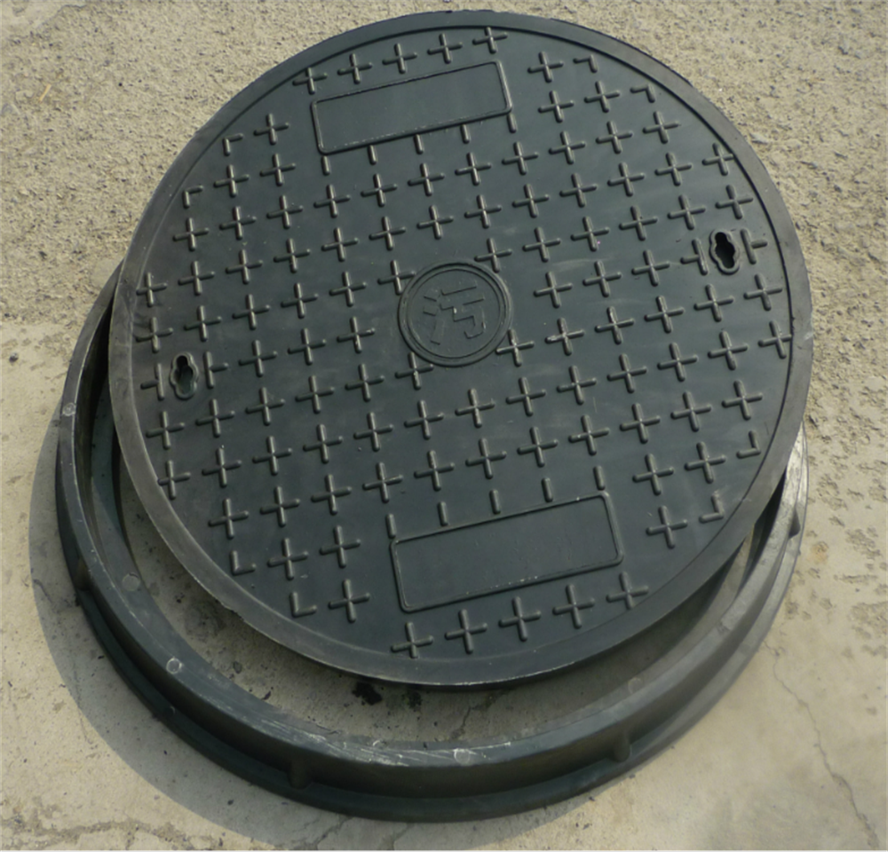 Hot selling product manhole size composite resin cover with handle plastic material