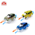 Military Jeep Blue Police toy car led light