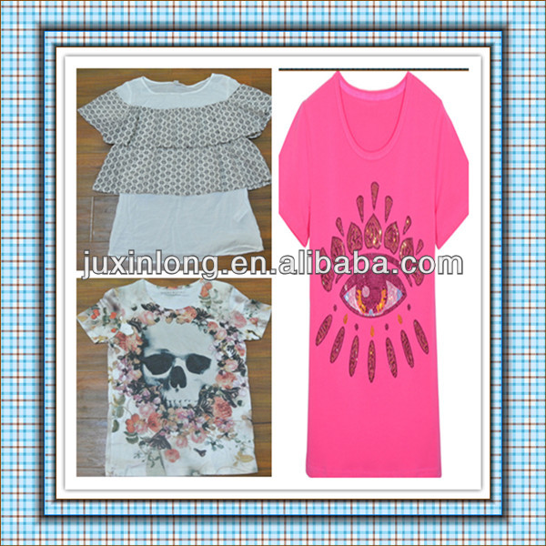 Various used clothing - best quality cotton T-shirt for women