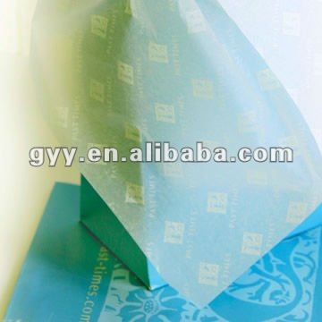 MF white color tissue/silk paper with printed logo for gift packaging