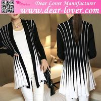 celebrity 2015 Black White Stylish Long Sleeve high fashion womens winter coats