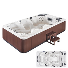 Hot sell party whirlpool spa pool outdoor mini pool spa for 6 seats