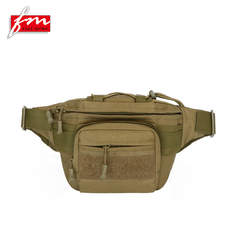 Waterproof Nylon Men Military Tactical Sports Hiking Running Sling Chest Fanny Pack Waist Bag