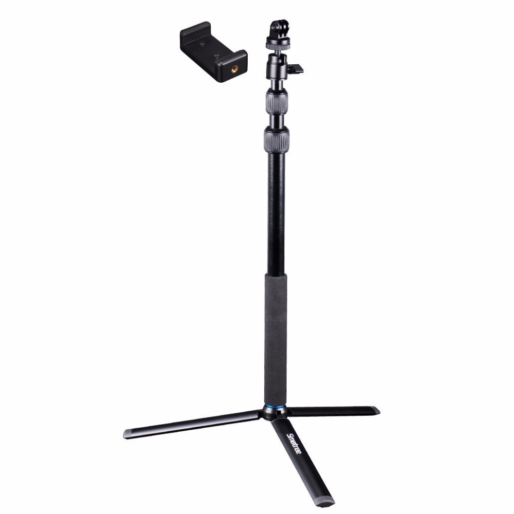 Smatree DC Telescoping Selfie Stick/Monopod with Tripod Stand for GoPros Cameras, Ricoh Theta S/V, <strong>M1</strong>