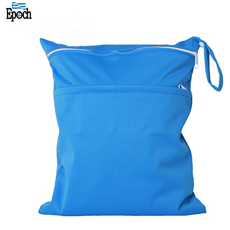 Alibaba hot selling eco-friendly reusable machine washable zip top baby cloth diaper wet dry bag for travelling