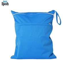 Alibaba hot selling eco-friendly reusable machine washable zip top baby cloth daiper wet dry bag for travelling