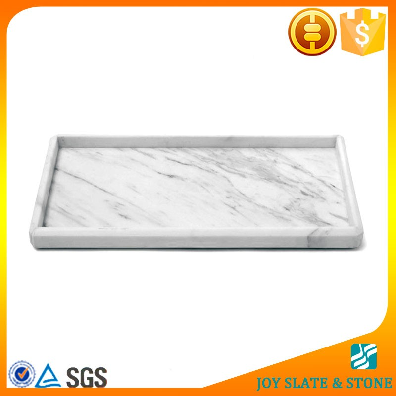 Natural marble decorative drink serving tray