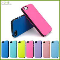 High quality 2 in 1 tpu pc mobile phone protective case cover for iphone 5 5s