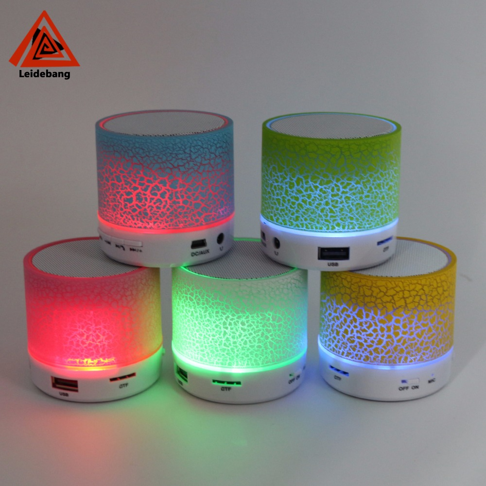 Fashion cool Colorful led light mini bluetooth speaker mp3 function for iphone