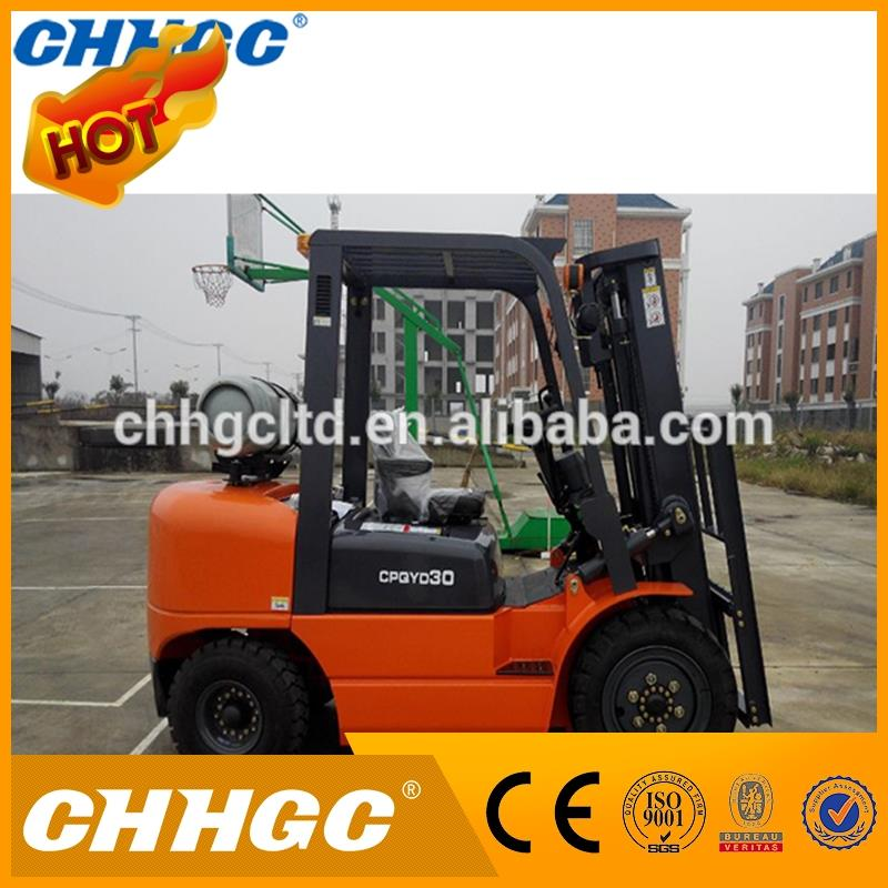 CNG Gas Engine Power Souce and Powered Pallet Truck Type 3t LPG forklift CPQYD30