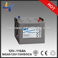 GeL inverter battery sonnenschein A512/115 A enersys battery NGA5120115HSOCA 12v battery for toy car
