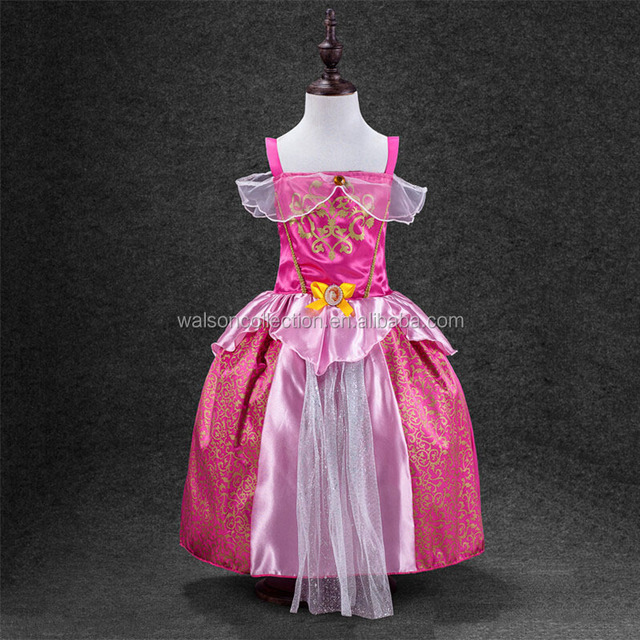 2016 new hot sale Enchanted Princess Fancy Dress Costumes Dressing Up Tiara Chest Girls Kids Party dress