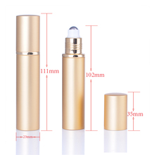 MUB portable 15ml empty metal aluminum roll on deodorant bottles empty refillable roll on perfume bottles with metal roller ball