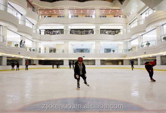 Portable plastic ice rink, UHMWPE sliding board, indoor synthetic ice floor mat