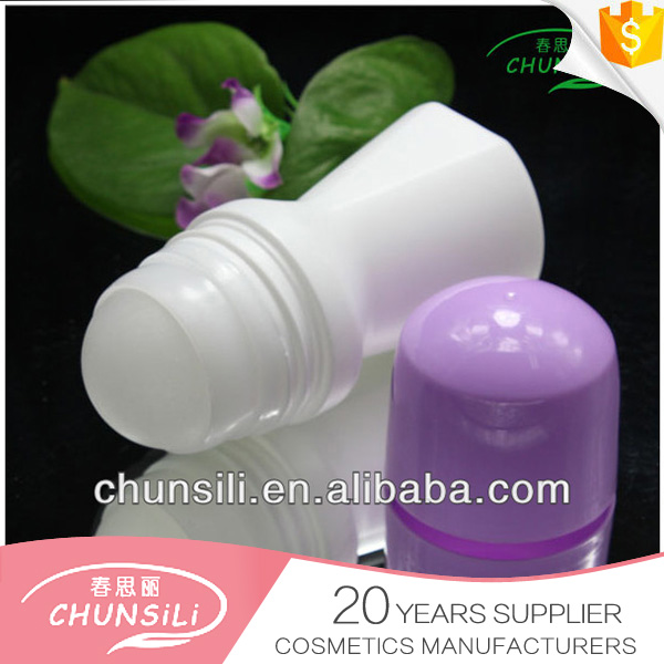 cosmetic packinging empty 50ml deodorant buck roll on bottle