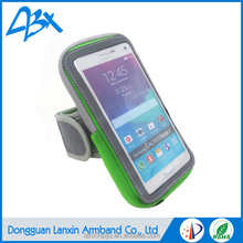 Green Neoprene and elastic strap armband waterproof case for lg nexus 5