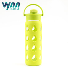 Hot sale best selling heat resistant glass water bottle for wholesale