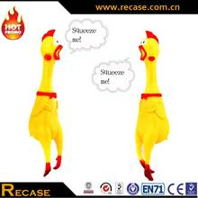 Rubber and Plastic Chicken Toy for Pets, Shrilling Chicken Toy
