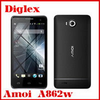 Wholesale hot Amoi A862w Smartphone Qualcomm MSM8225Q quad core 1GB RAM 4GB ROM