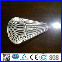 galvanized ED paint perforated steel tube pipe /perforated filter tube