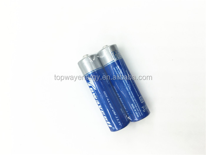 Shenzhen battery factory supply 1.5v zinc carbon battery r6p