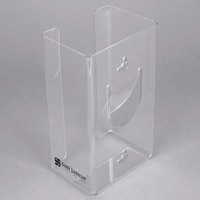 Clear Plexiglass hot bending Disposable Glove Dispenser box