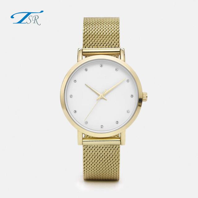 Luxury watches faces white diamond making mens business premium quality quartz watch