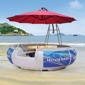 Hot sale 6-8 persons mini electric boat for bbq donut ship