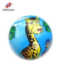 No. 1 yiwu agent Custom animal printed inflatable wholesale beach ball PVC toy ball
