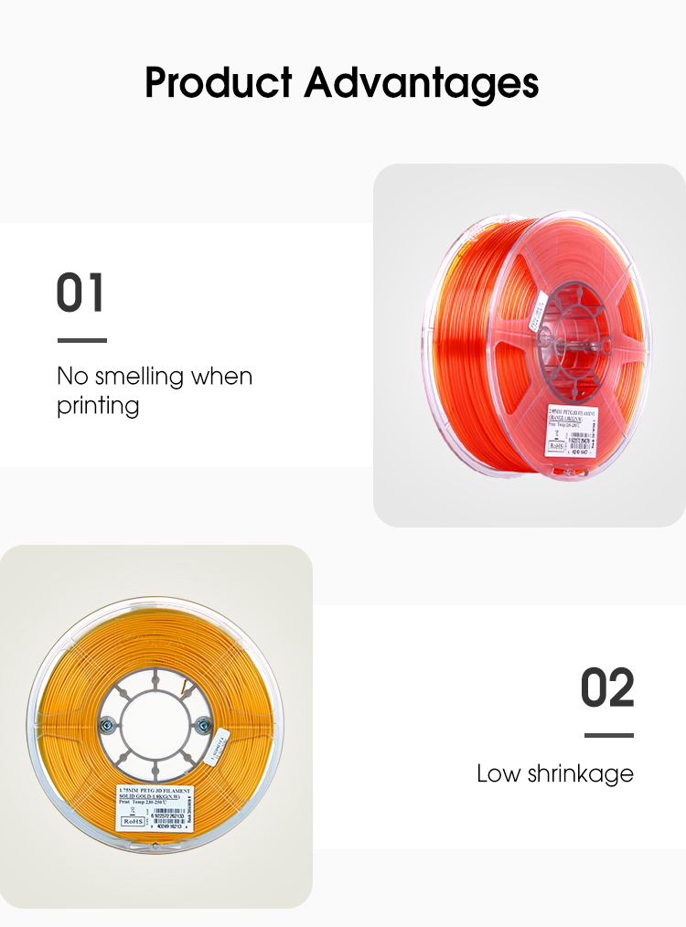 eSUN 1.75mm PETG filament for 3D printer