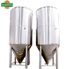 beer conical fermenter with glycol cooling jacket