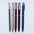 Unique Design Pen Clip Click On-off Ball Point Pen Multi-color Metal Promotional Pen