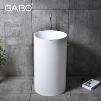 Made in China hot sale all sanitary items freestanding small pedestal sink